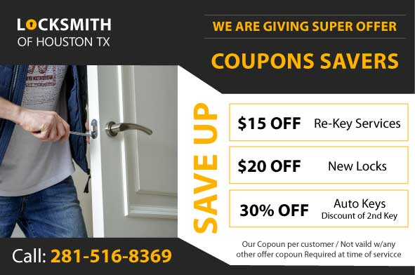 Coupon locksmith services Houston TX